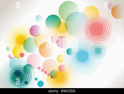 bunte eingekreisten Muster - Stockfoto