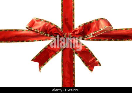 Glänzend rote Schleife - Stockfoto