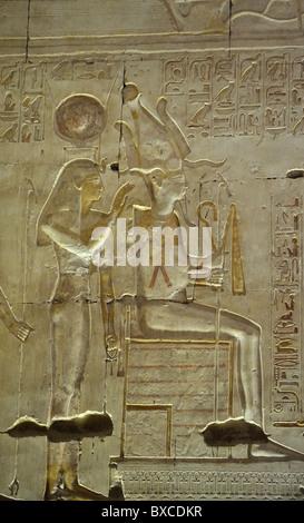 ISIS und Osiris, Ramses II Langfassung Relief, Tempel von Sethos i., Abydos, Ägypten 08111532291 - Stockfoto