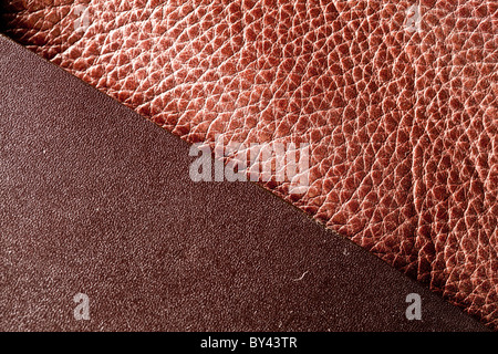 Bildstruktur aus braunem Leder. - Stockfoto