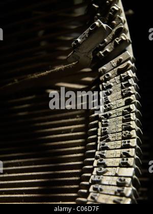 Schreibmaschine hämmert hautnah - Stockfoto