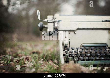 Strukturierte Vintage Schreibmaschine - Stockfoto