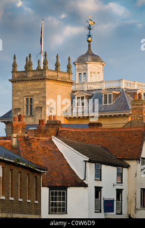Abingdon Sky-Line im frühen herbstliche Sonne - Stockfoto
