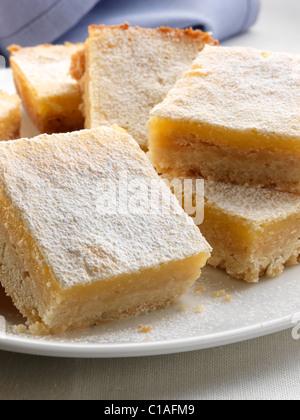 Einzelne Zitrone Quadrate cookies - Stockfoto