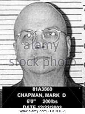 Mark David Chapman Mugshot - Stockfoto