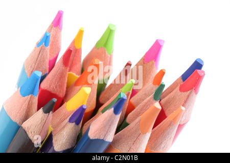 Reihe von Farbstiften - Stockfoto