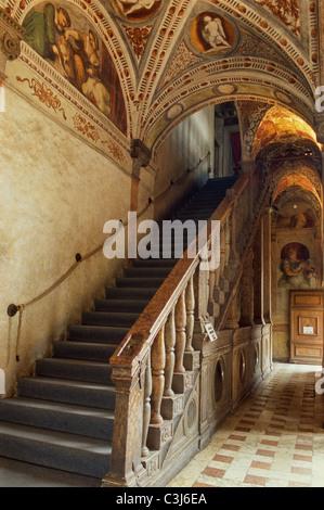 Loggia Romanino im Castello del Buonconsiglio - Stockfoto