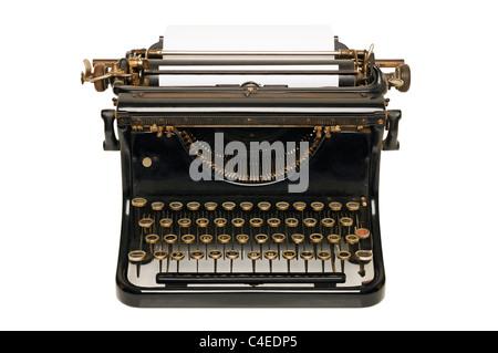 Schreibmaschine, ausschneiden. - Stockfoto