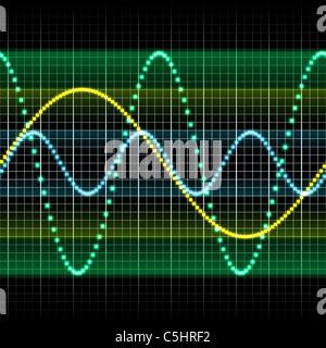 Schallwelle, Computer-Grafik - Stockfoto
