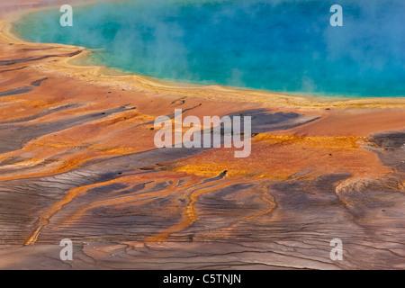 USA, Wyoming, Yellowstone-Nationalpark, Grand prismatische Frühling - Stockfoto