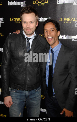 Joel McHale, Danny Pudi im Ankunftsbereich für Unterhaltung wöchentlich Bildschirm Actors Guild SAG Awards Pre-Party, - Stockfoto