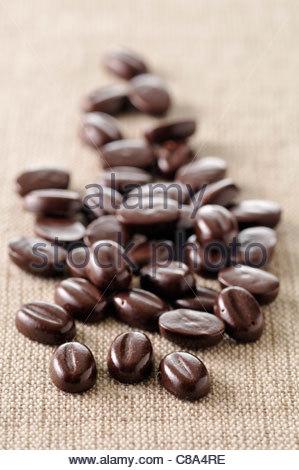 Schokolade Kaffee Bohnen - Stockfoto