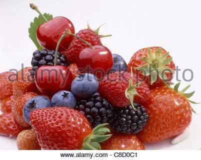 Zusammensetzung der Sommer Obst - Stockfoto