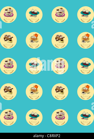Essen-Icon-Set - Stockfoto