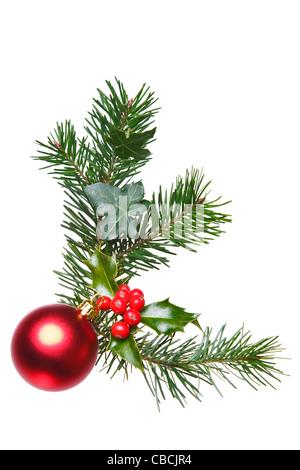Weihnachten dekoration girlande rahmen hintergrund - Christbaumkugel englisch ...