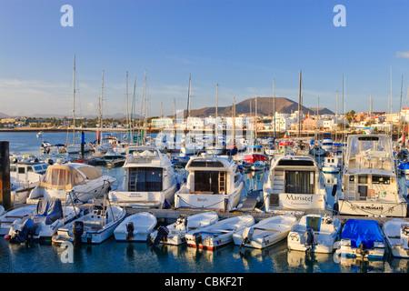 Marina corralejo Fuerteventura Kanarische Inseln Spanien - Stockfoto