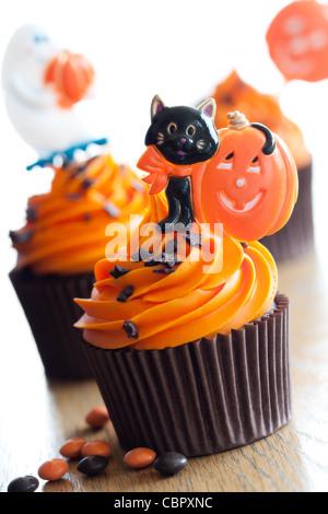 Halloween-Muffins - Stockfoto