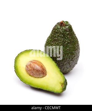 Avocados auf weißem Hintergrund - Stockfoto