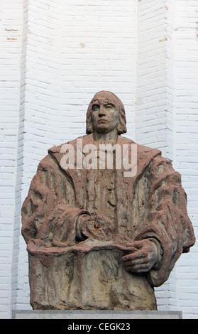 Santa Fé, Granada, Andalusien, Spanien. Statue von Christoph Kolumbus 1451 –, 1506. Italienische Entdecker, Kolonisator - Stockfoto