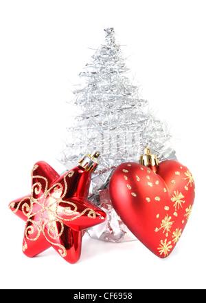 weihnachtsbaum aus red ribbon auf hellen hintergrund. Black Bedroom Furniture Sets. Home Design Ideas