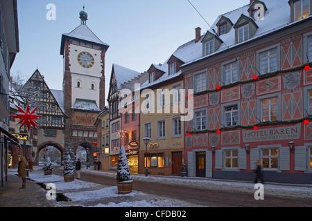 Kajo, Freiburg, Abend, Schnee, Schwarzwald, Baden Württemberg, Deutschland, Europa - Stockfoto