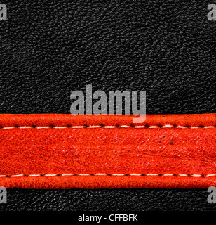 Eine braune Leder-Textur. hohe Auflösung. - Stockfoto