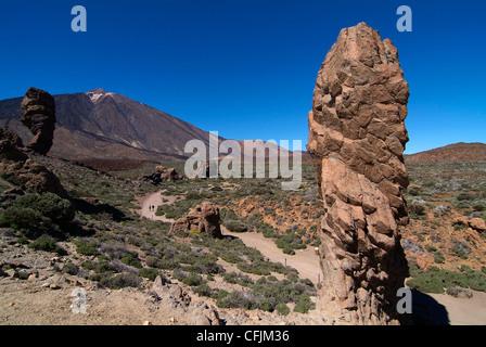 Las Canadas, Parque Nacional del Teide, UNESCO-Weltkulturerbe, Teneriffa, Kanarische Inseln, Spanien, Europa - Stockfoto