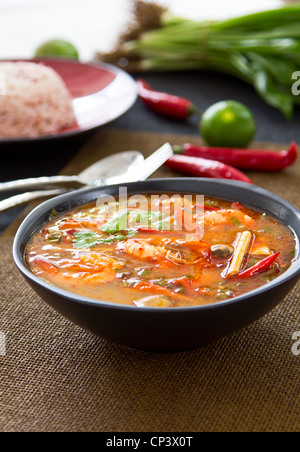 Sauer und würzige Suppe [Thai s Tomyum Kung] - Stockfoto