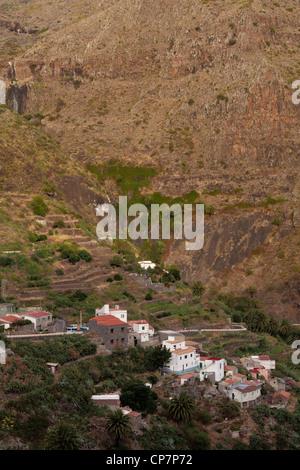 Die abgelegenen Dorf Masca des Teno-Massivs auf Teneriffa-Kanarische Inseln-Spanien - Stockfoto
