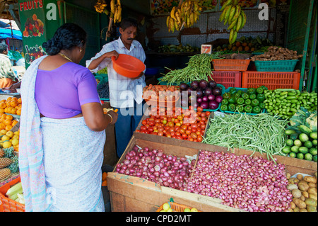 Obstmarkt, Trivandrum (Thiruvananthapuram), Kerala, Indien, Asien - Stockfoto