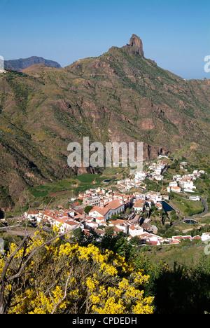Tejeda und Roque Nublo, Gran Canaria, Kanarische Inseln, Spanien, Europa - Stockfoto