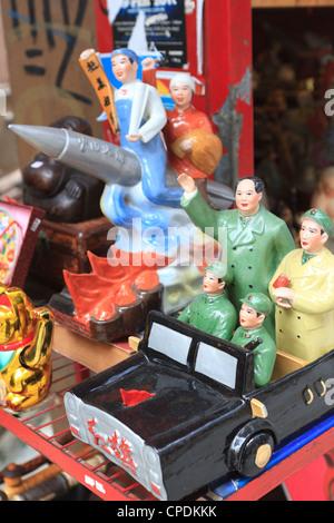 Vintage kommunistischen Keramik zum Verkauf in Hollywood Road Antiquitäten Bezirk, Hong Kong Island, Hongkong, China, - Stockfoto