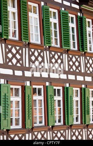 Fachwerk-Gasthof Sonne in Schiltach in den Bayerischen Alpen, Deutschland - Stockfoto