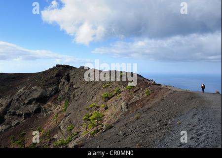 San Antonio-Vulkan in der Nähe von Fuencaliente, La Palma, Kanarische Inseln, Spanien, Europa, PublicGround - Stockfoto