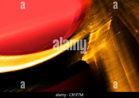 Extreme Nahaufnahme Schere. Abstraktes Bild mit einer hohen Vergrößerung-Makro-Objektiv aufgenommen. - Stockfoto