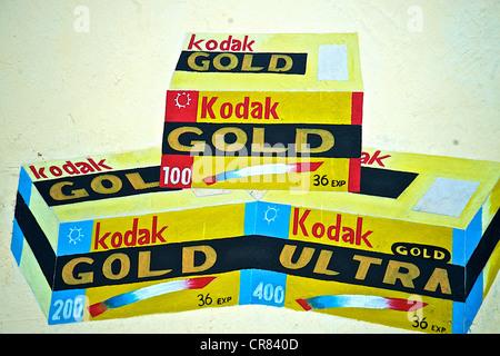Künstlerischen Detail der bunte Zeichnung Darstellung Kodak-Film - Stockfoto