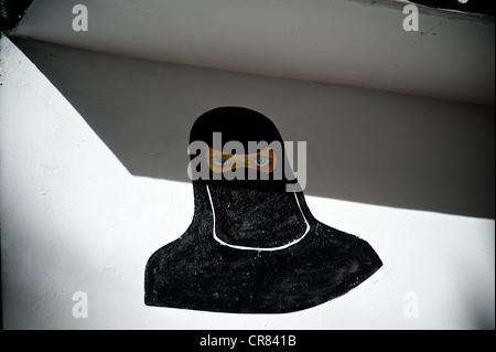 Künstlerischen Detail der Zeichnung zeigt eine muslimische Frauen - Stockfoto