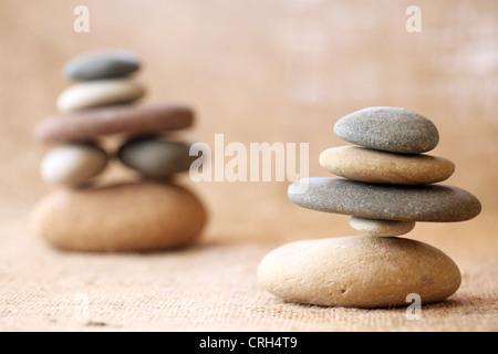 Gestapelten Steinen - Stockfoto