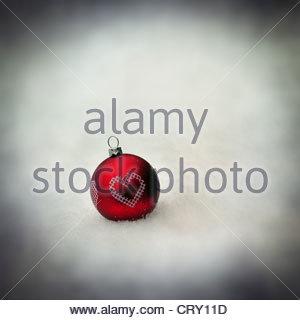Herz-Christbaumkugel - Stockfoto