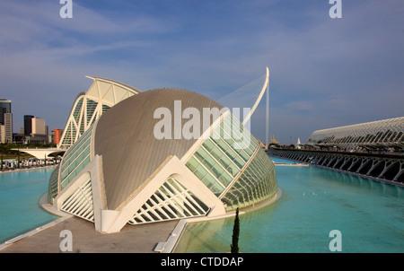 Spanien, Valencia, Stadt der Künste und Wissenschaften, Hemisferic, - Stockfoto