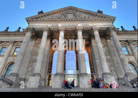 Reichstagsgebäude in Berlin, Deutschland - Stockfoto