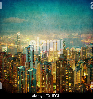 Vintage Bild von Hong kong - Stockfoto