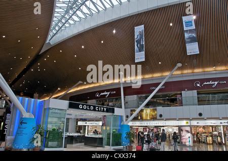 Duty free Shops, internationalen Flughafen Kuala Lumpur, Malaysia - Stockfoto