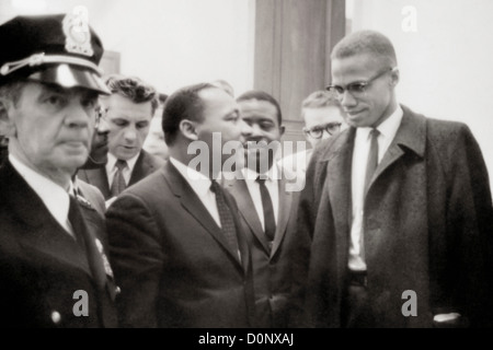 Malcolm X und Martin Luther King - Stockfoto