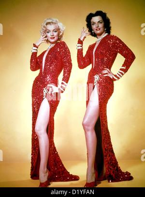 GENTLEMEN PREFER BLONDES 1953 20th Century Fox Film - Promo-Foto von Marilyn Monroe auf der linken Seite und Jane - Stockfoto