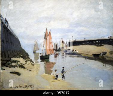 Claude Monet (1840-1926). Französischer Maler. Der Hafen von Trouville, 1870. Öl auf Leinwand. Museum der bildenden - Stockfoto