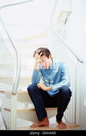 Depressive Menschen - Stockfoto