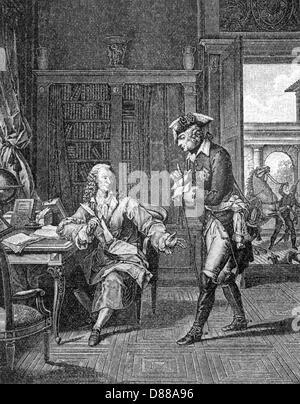 Voltaire + Friedrich gt. - Stockfoto