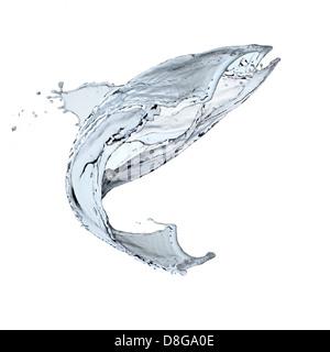 Wasser in Bewegung. High-Speed-Aufnahme. - Stockfoto