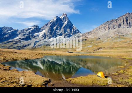Monte Cervino (Matterhorn), Breuil-Cervinia, Aosta-Tal, Italienische Alpen, Italien - Stockfoto